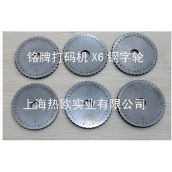 上海铭牌参数打码机X6,金属标牌参数打标机,标牌参数刻字机,铭牌凹字打码机